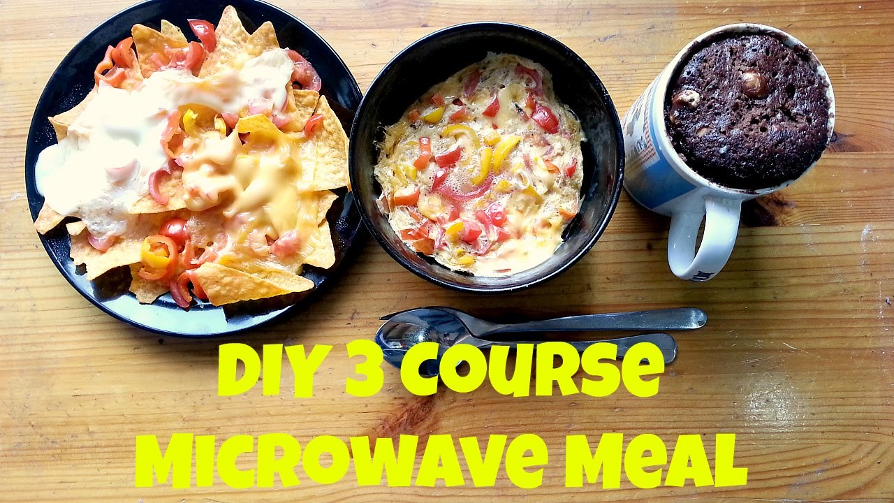 DIY 3 Course Microwave Meals (Deutsch, English Sub)