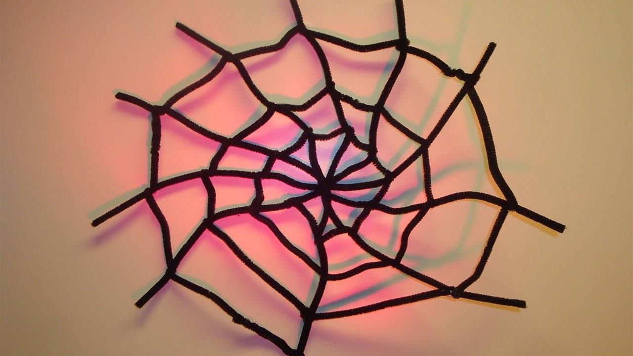 DIY Halloween Deko Spinnennetz