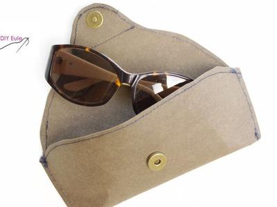 3 Minuten DIY: Sonnenbrillenetui aus SnapPap nähen  - DIY Eule