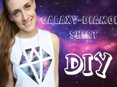 DIY | Galaxy-Diamond T-shirt