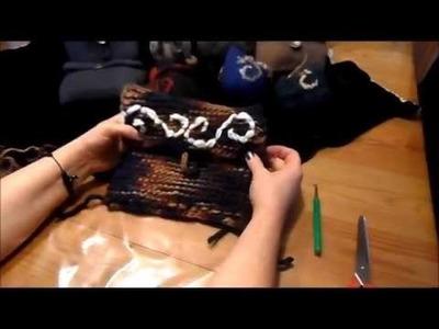 DIY : keka # Mittelalter Tasche ,Tasche,Gürteltasche stricken und FILZEN. verfilzen
