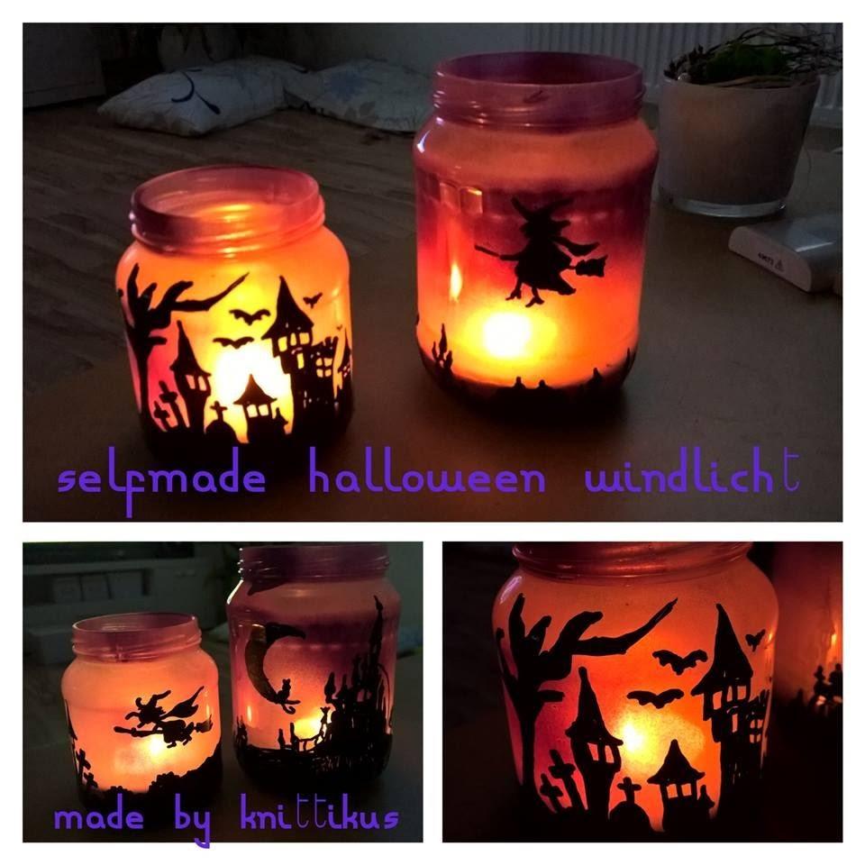 Selfmade Halloween Windlicht mit Knittikus D.I.Y. & more