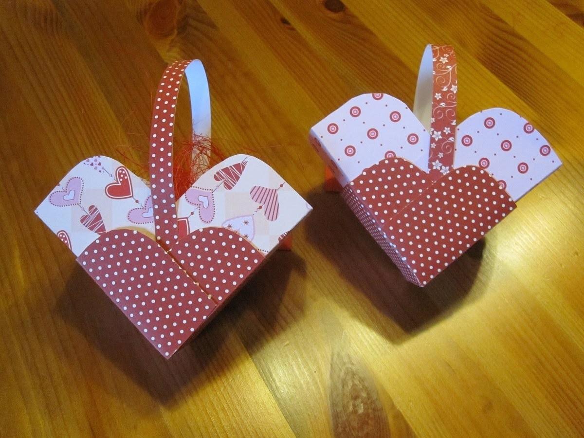 BASTELN MIT PAPIER: Herz Schachtel basteln - Bastelideen Muttertag & Valentinstag