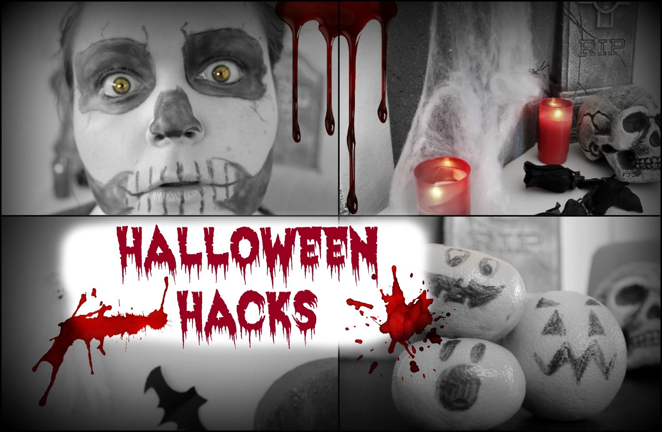 HALLOWEEN HACKS - DEKO DIY, MAKEUP, SNACKS - Einfach & günstig