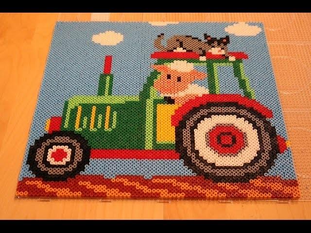 Perler Bead Traktor Zeitraffer Teil 1
