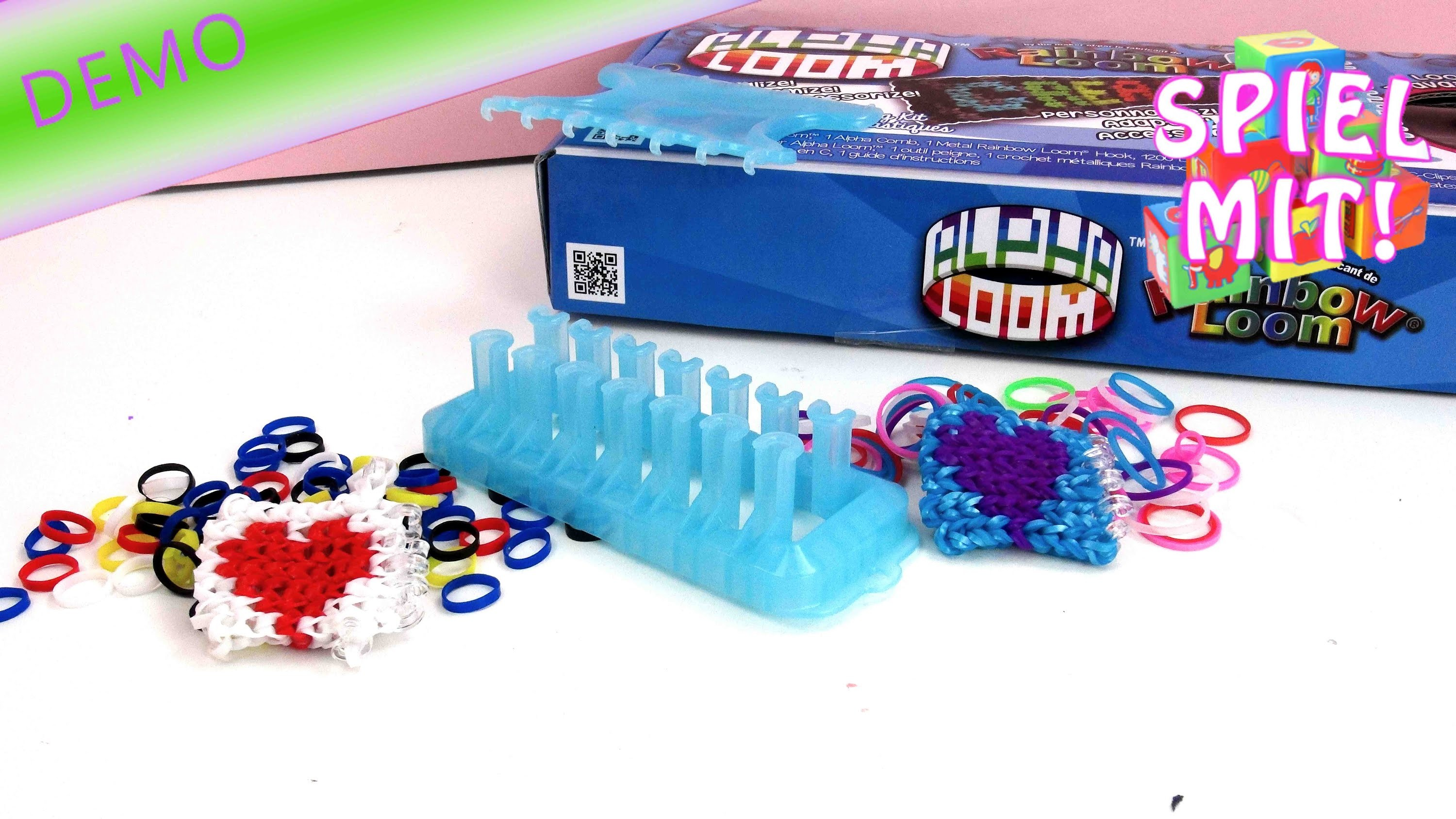 Rainbow loom webrahmen deutsch - Alpha Loom Bands Vergleich mit Rainbow Loom Bands