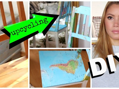 DIY MAP STUHL - Upcycling | funnypilgrim