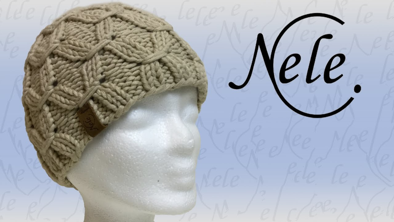 Mütze stricken, Mütze mit Smoke Muster, DIY - Anleitung by Nele C.