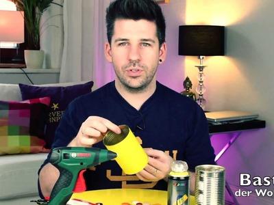 DIY | Vase aus Dose mit Knöpfen Trend | Wohnprinz