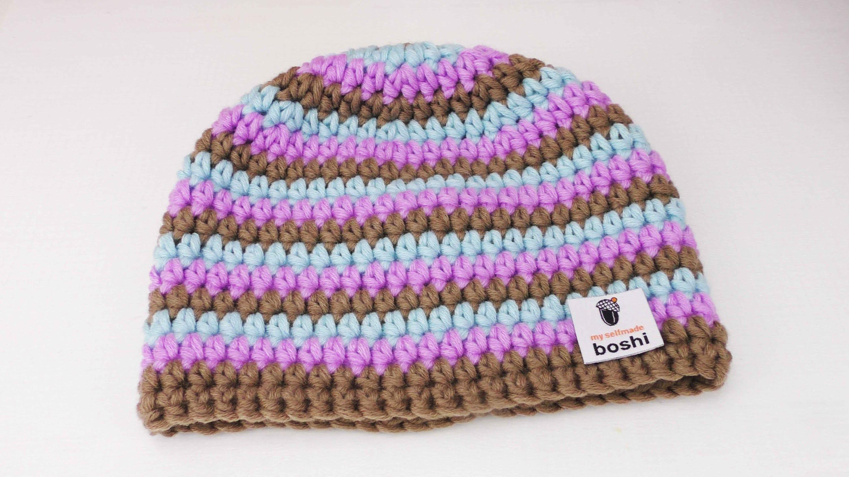 Myboshi Box - Mütze Häklen | einfache Anleitung für Anfänger | Reihenübergang mit Farbwechsel