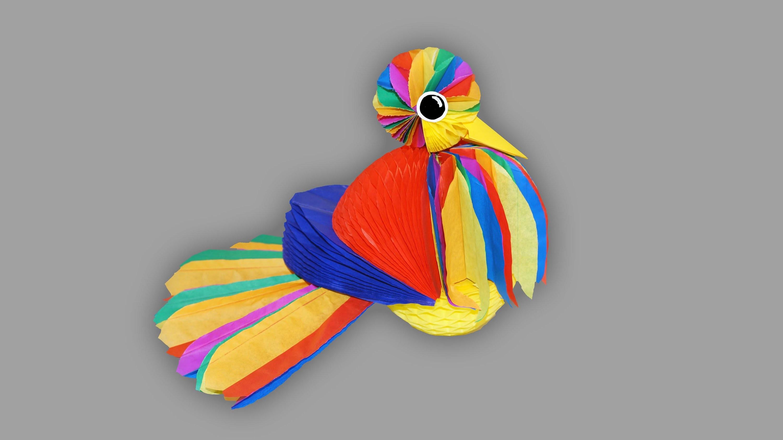 Vogel aus Papier - Bastelanleitung