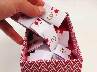 DIY Adventskalender selber machen | persönliche Nachrichten & Gutscheinen | Super einfach & schnell