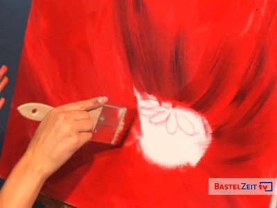Bastelzeit TV 82 - Ölmalerei Mohn