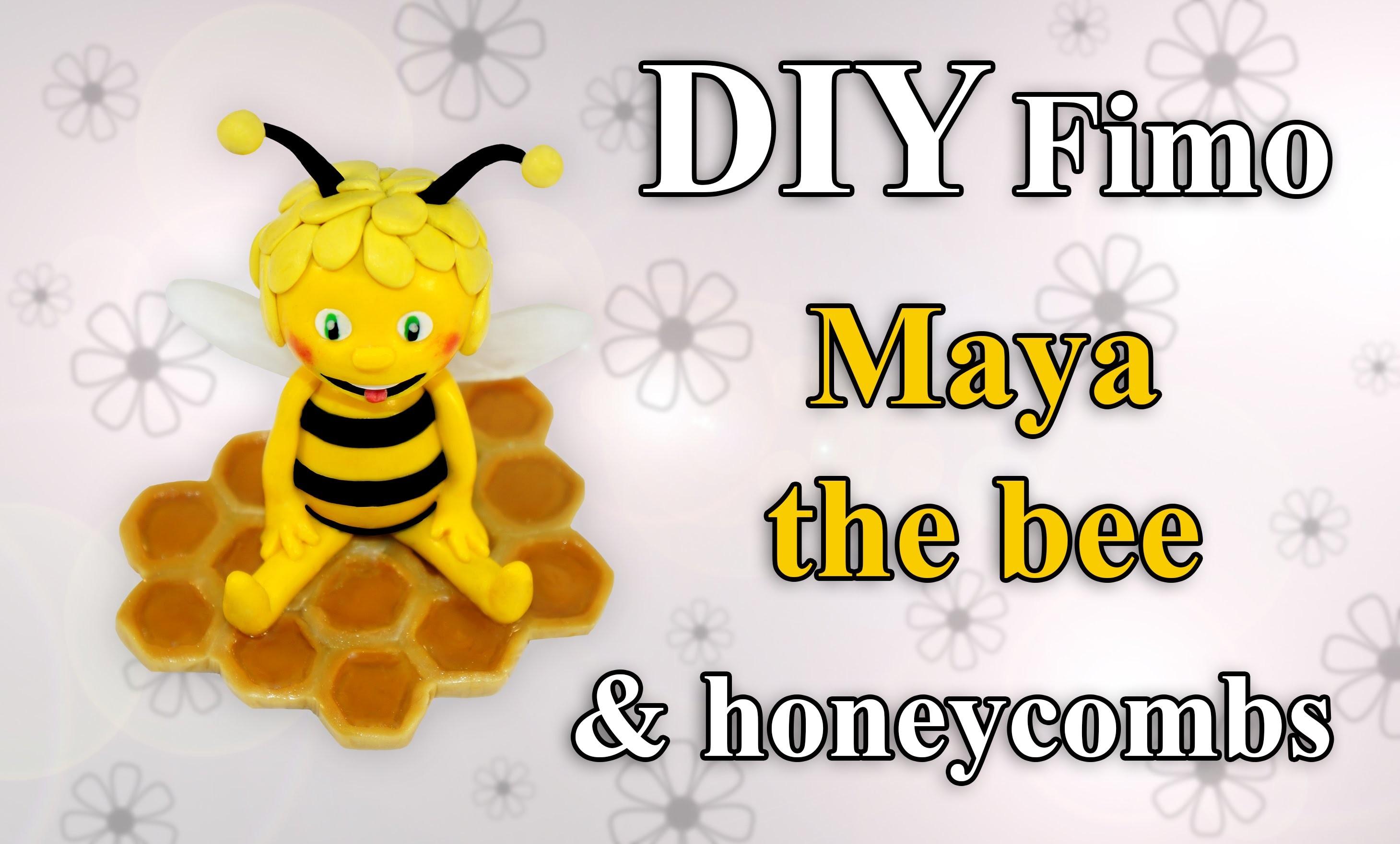 FIMO Biene Maja: Polymer Honeycomb (Resin) - Tutorial [HD.DE] (EN-Sub)