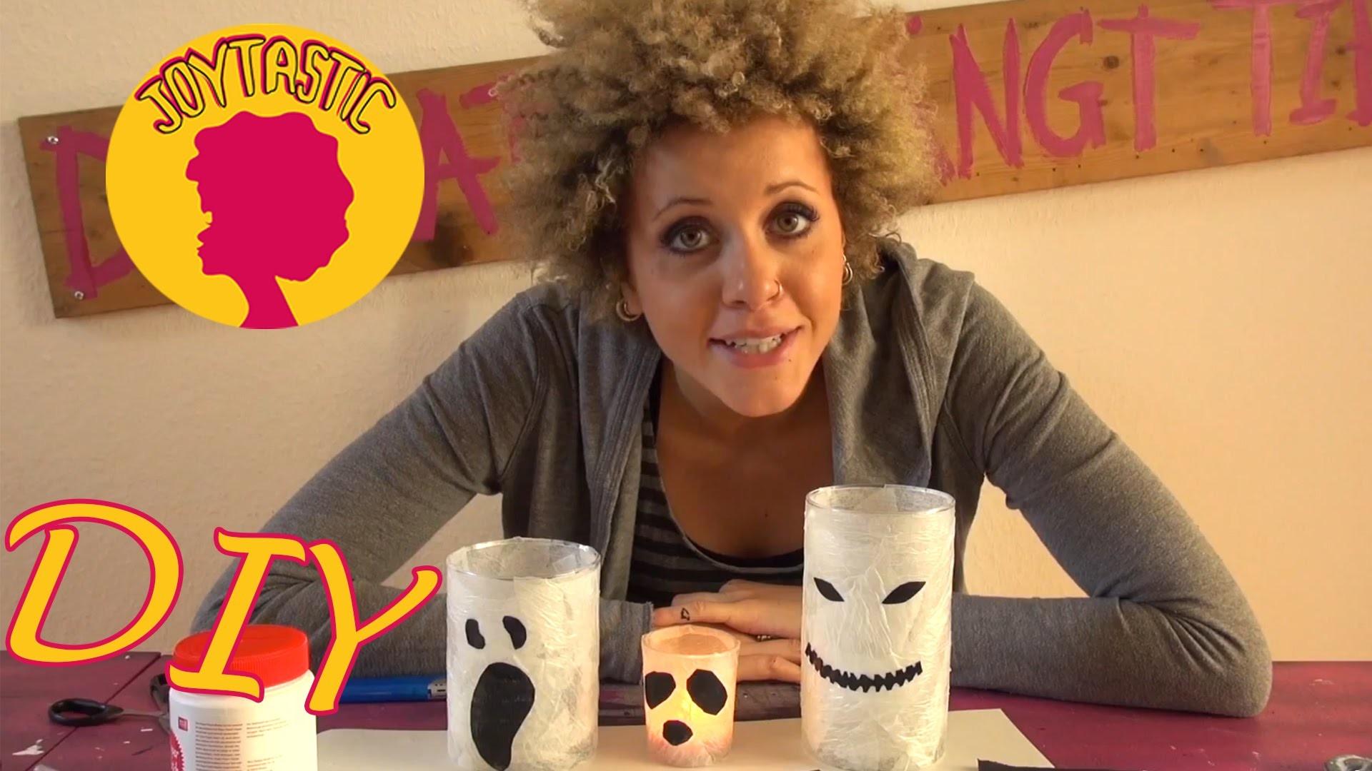DIY | Gruselige Geister Gläser zu Halloween