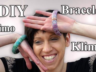 FIMO Armreif mit Klimt Cane: Polymer Bracelet - Tutorial [HD.DE] (EN-Sub)