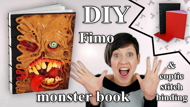 FIMO Buch (Monster): Polymer Mutant & Coptic Stitch Book - Tutorial [HD.DE] (EN-Sub)