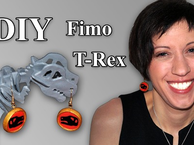 FIMO T-Rex: Polymer Earrings - Tutorial [HD.DE] (EN-Sub)