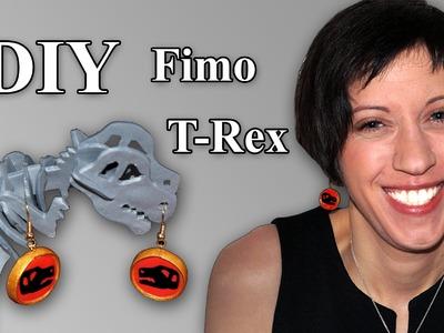 FIMO T-Rex: Polymer Earrings - Tutorial [HD.DE] (EN-Sub)