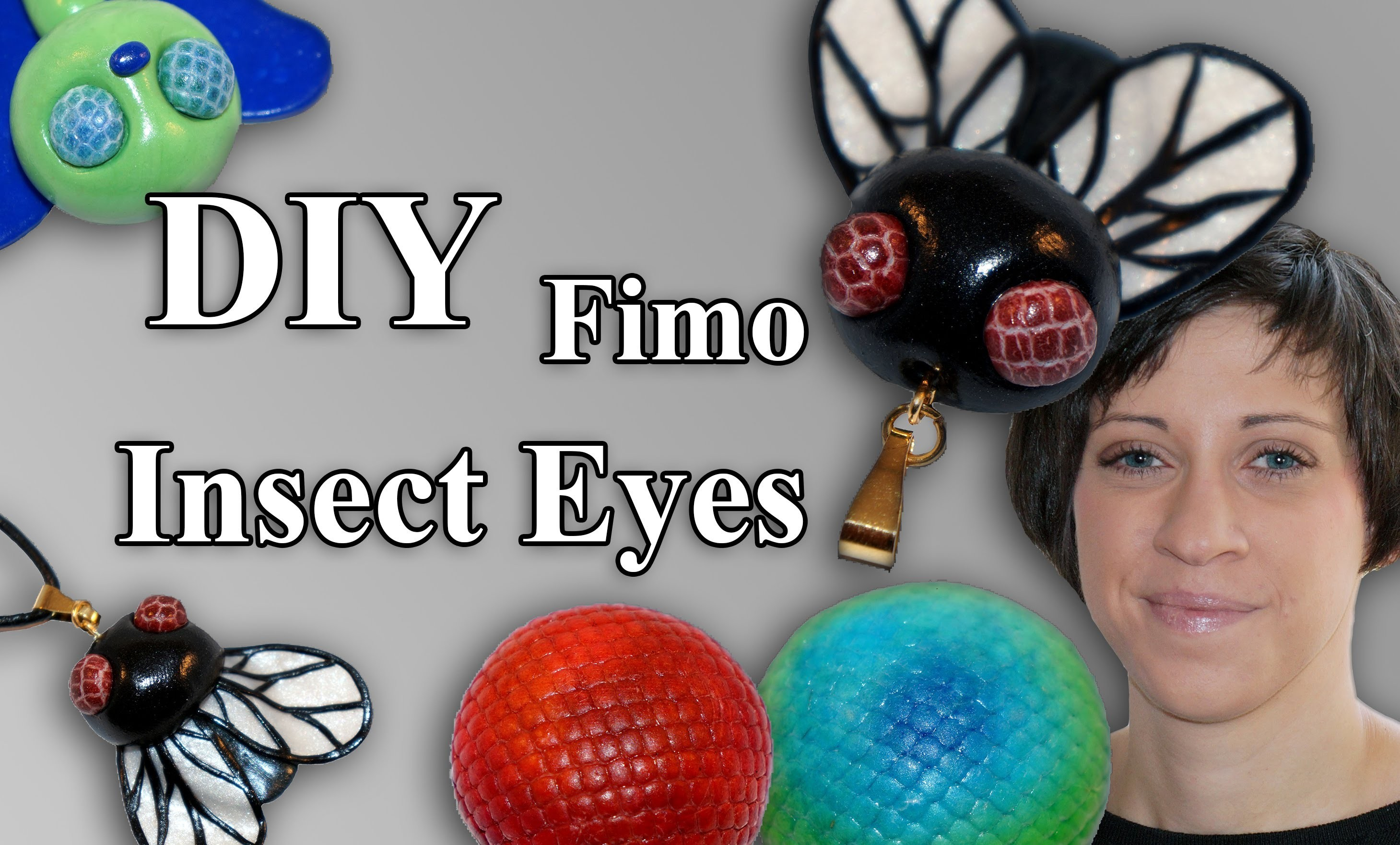 FIMO Insekten Augen: Polymer Fly - Tutorial [HD.DE] (EN-Sub)
