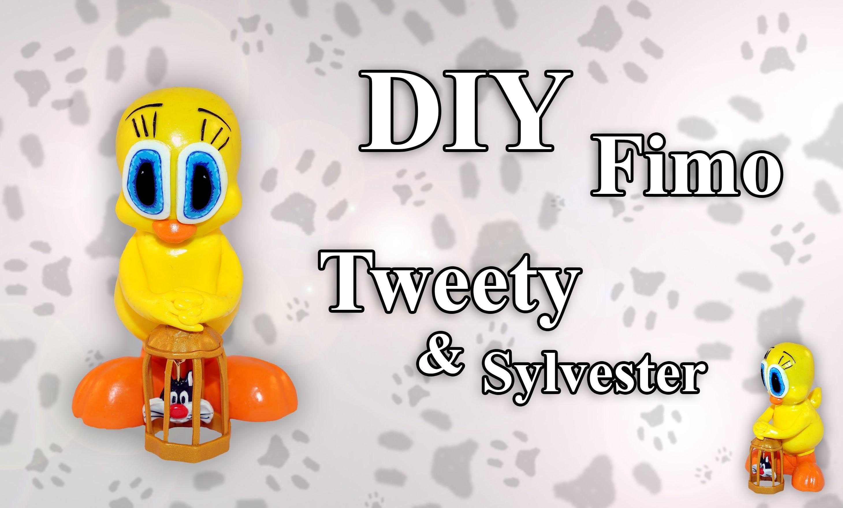 FIMO Tweety & Sylvester: Polymer Bird Cage - Tutorial [HD.DE] (EN-Sub)