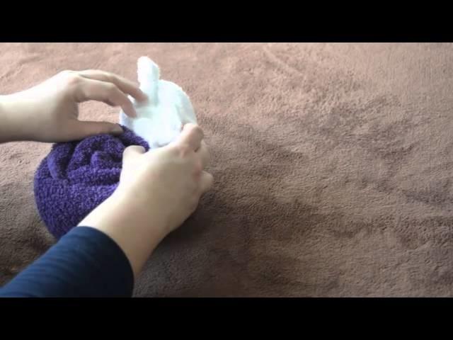 Schnecke aus Handtücher #DIY