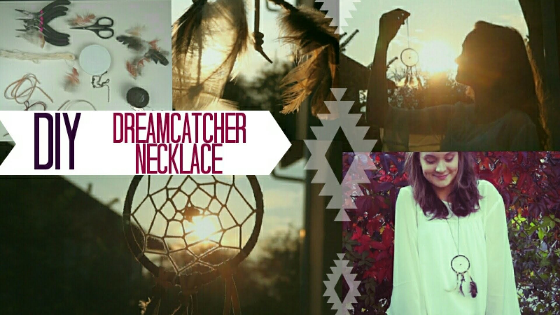 DIY dreamcatcher necklace. Traumfänger Halskette