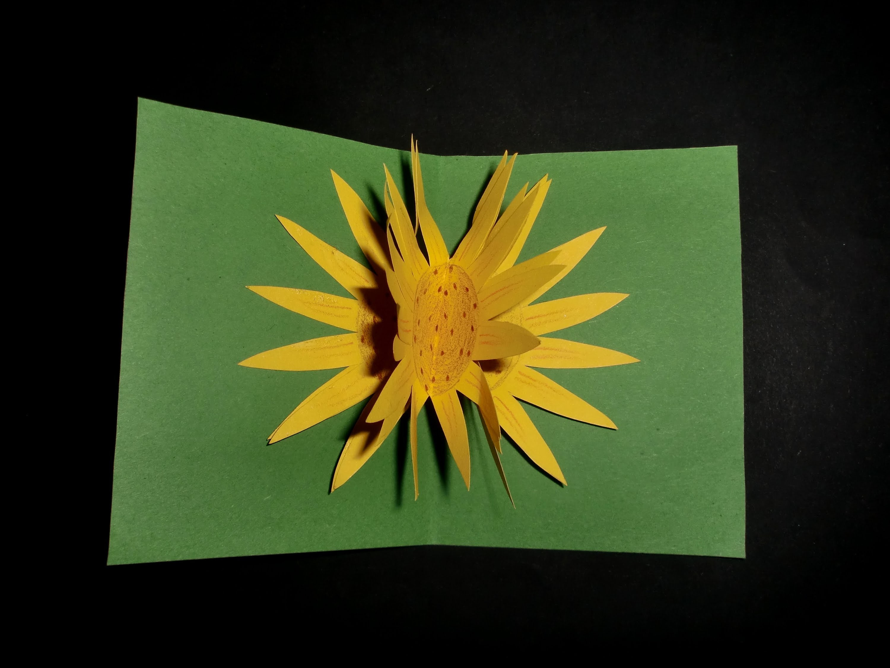 Kinderkarte mit Pop-up: Sunflowercard for Kids - Tutorial [HD.deutsch]