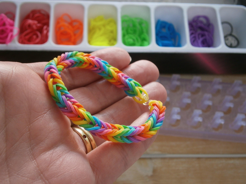 Regenbogen Armband Rainbow Loom Deutsche Anleitung