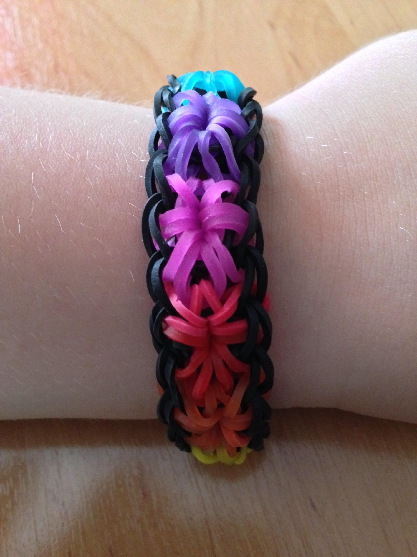 Rainbow Loom Sternen-Armband (deutsche Anleitung)