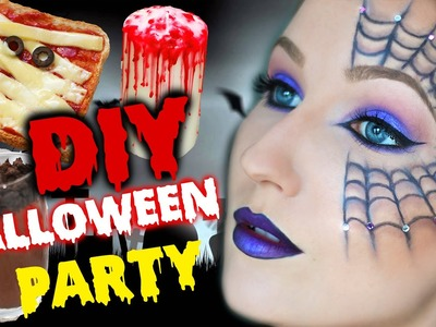 DIY HALLOWEEN PARTY! Makeup, Snacks & Dekoration - TheBeauty2go