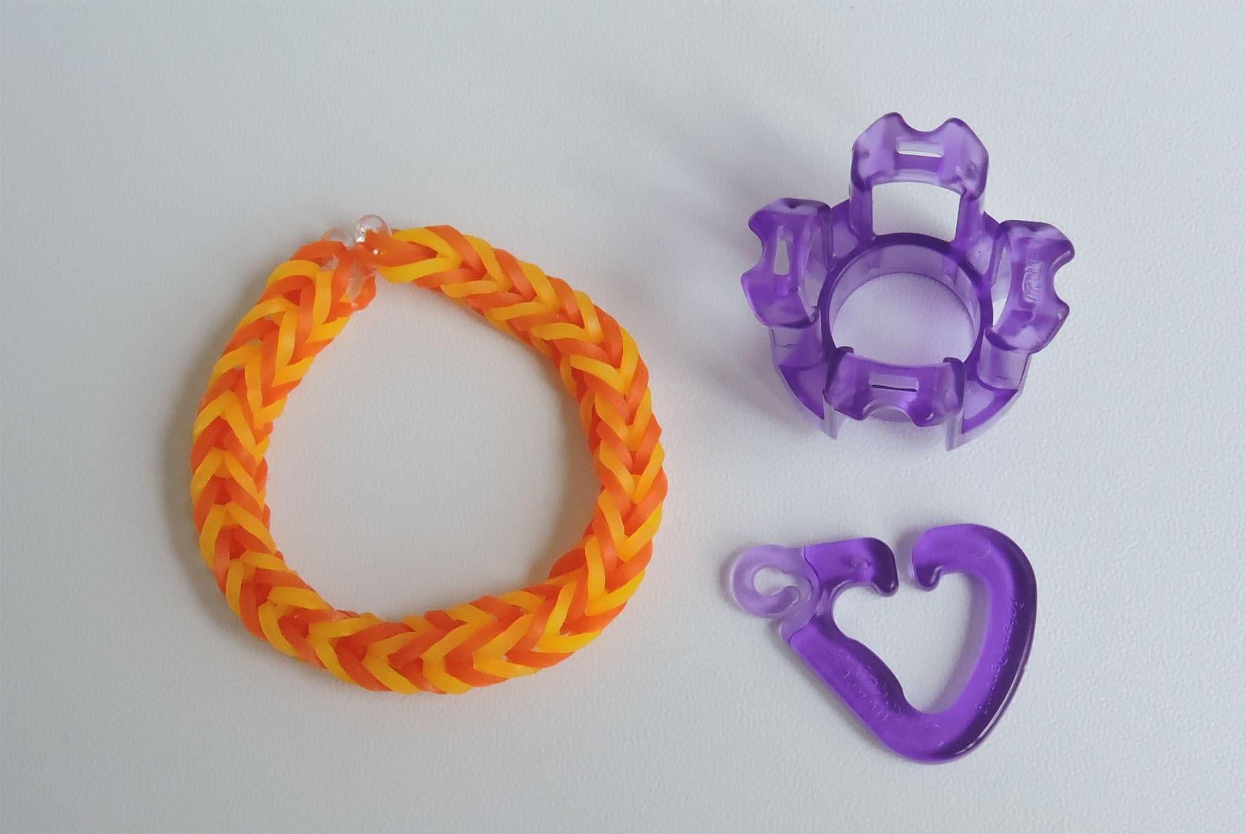 Fingerloom einfaches Armband,Crazy Loom,Rainbow Loom,Zauber Loom,Deutsch