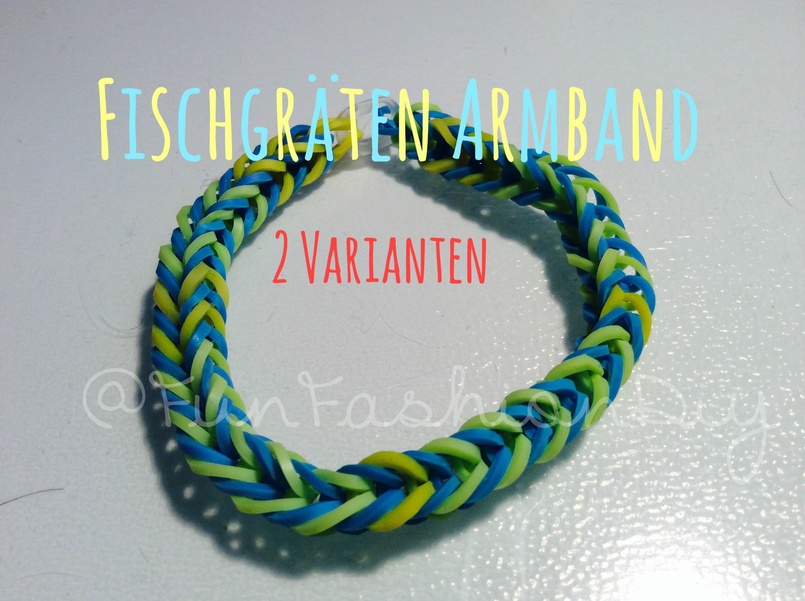 Fischgräten Armband 2 Varianten Rainbow Loom Deutsch