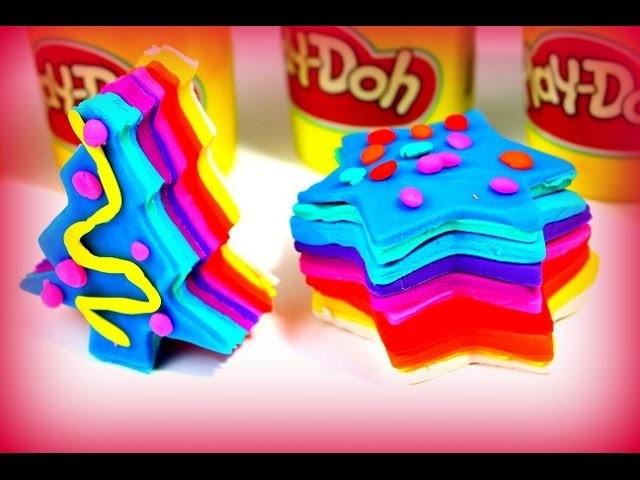 Play Doh Playdough Ideen mit Knete - Rainbow Regenbogen Plätzchen Kinder Knetmasse Spielzeug