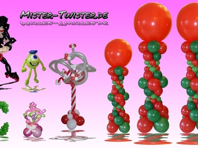 Balloon Column Christmas Wedding Decoration 2, Ballon Säule Weihnachten Hochzeit Dekoration 2