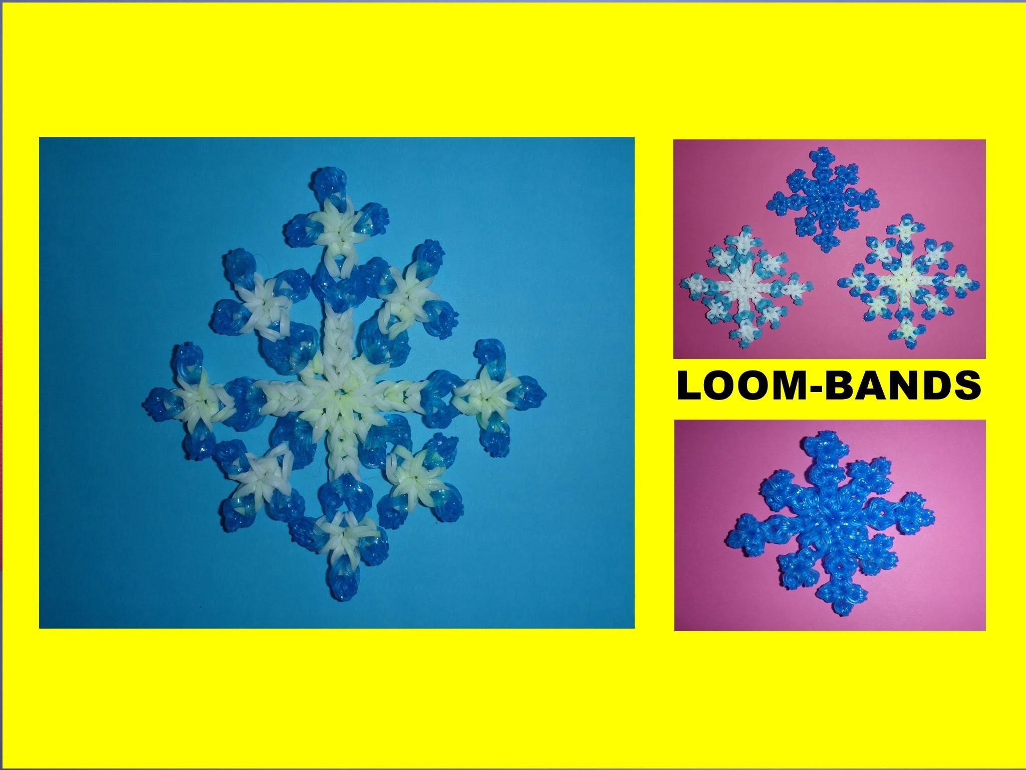 DIY Loom Bands Schneeflocke, Geschenk zu Weihnachten, christmas gift ideas snowflake