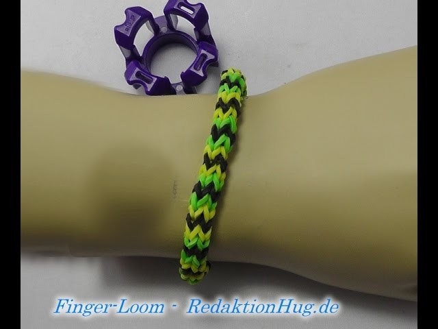 Loom Bands - Rainbow Loom - Finger-Loom - Band M - Veronika Hug