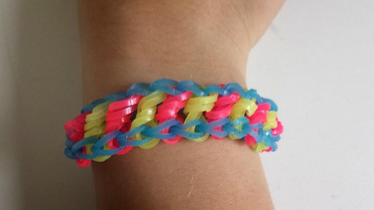 Rainbow loom Rotini Armband(deutsch)