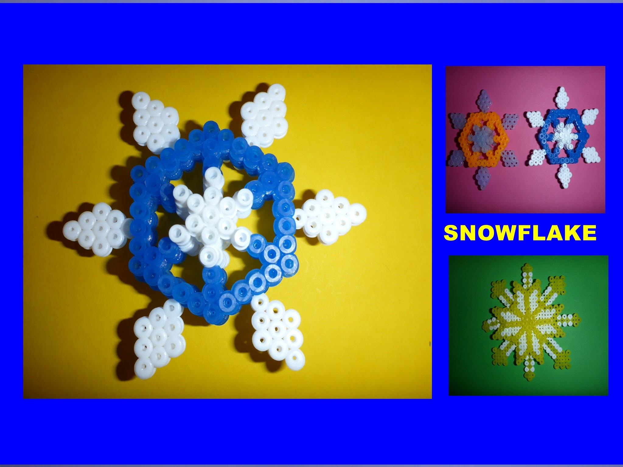 DIY Schneeflocke aus Bügelperlen, Geschenk zu Weihnachten, christmas gift ideas snowflake