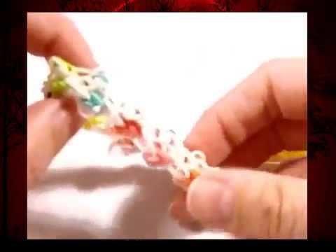 Wie macht man Armbänder, Loom Bands mit einer Gabel?Ohne Rainbow Loom Gummibänder Gabel