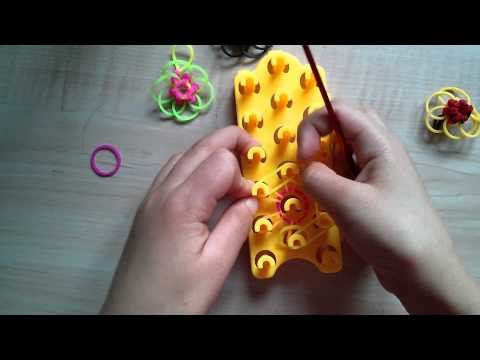 Crazy Loop,Rainbow Loom Blueten Anhaenger tutorial