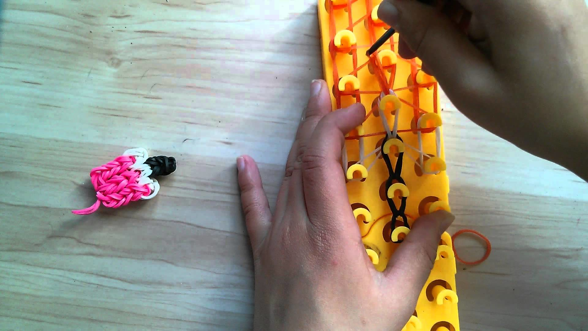 Crazy loop. rainbow loom . Eis am Stiel Anhaenger. Ice cream. Tutorial