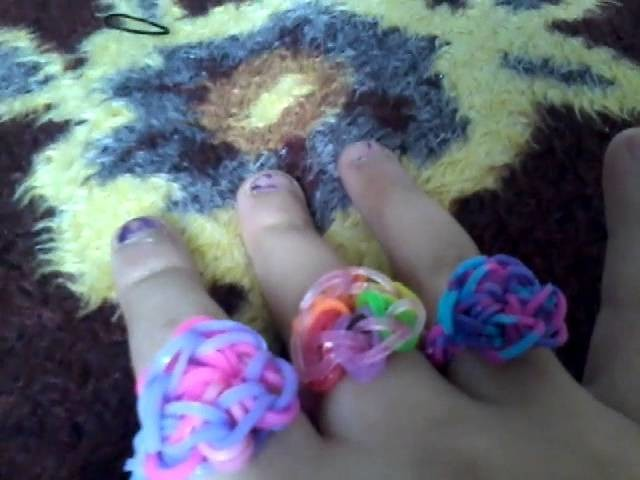 Wie man rainbow loom sternen.Blume  Ringen macht