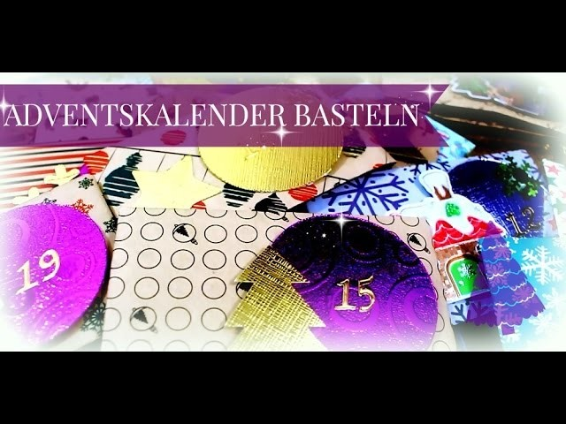 Adventskalender basteln ♥ DIY Anleitung für einfachen Adventskalender ♥ Advent Calender Tutorial