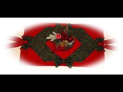 Käthes Nähstunde DIY  Weihnachtlicher Tischläufer mit Schleifen Nähen für Anfänger