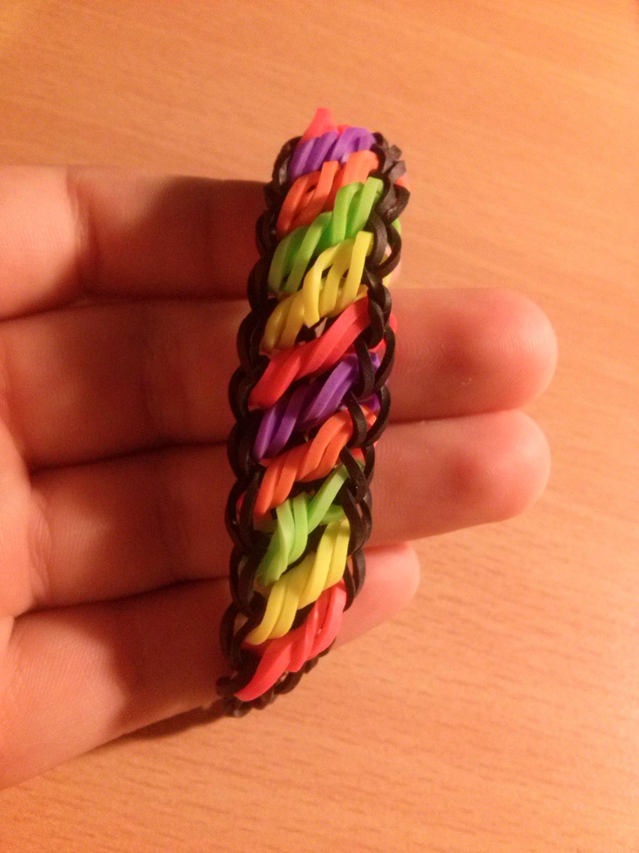 Rainbow Loom Rotini-Armband