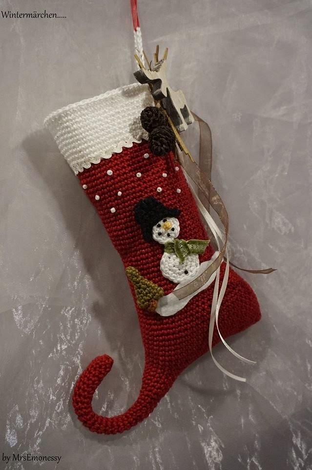 DIY Häkeln Wichtelschuh groß Nikolausstiefel Weihnachten