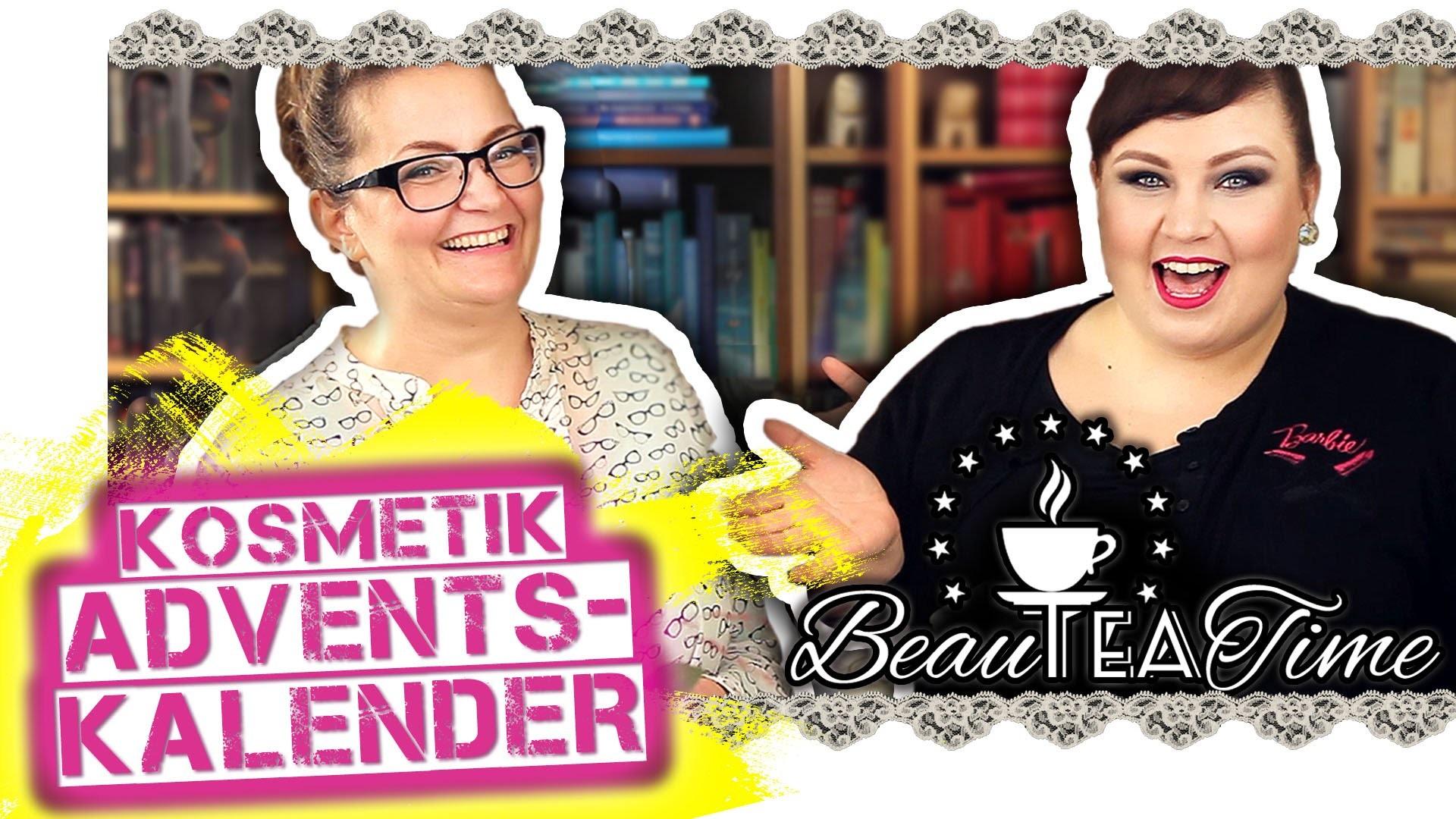 KOSMETIK ADVENTSKALENDER SELBER MACHEN kleine Makeup Geschenke DIY | #BeauTeaTime Folge 18