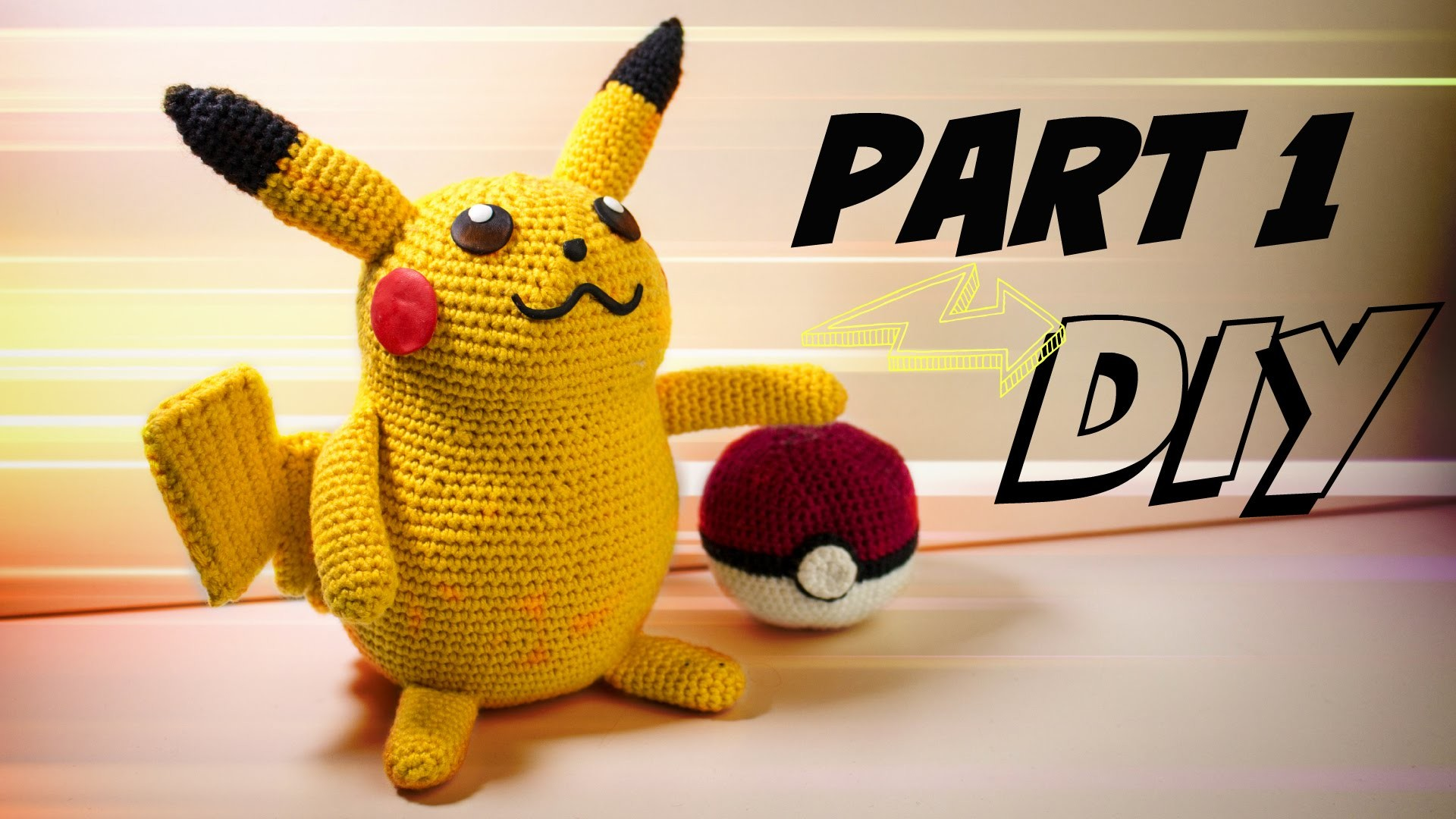 Pikachu (groß) Häkelanleitung Amigurumi DIY Part 1
