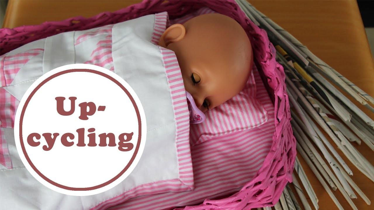Puppenbett aus Zeitungsrollen | DIY | Upcycling
